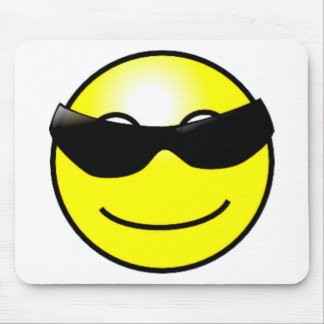 Cool Sunglasses Yellow Smiley Face Mouse Mats