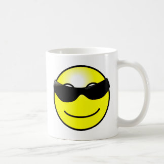 Cool Sunglasses Yellow Smiley Face Mugs