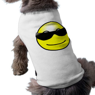 Cool Sunglasses Yellow Smiley Face Pet Clothing