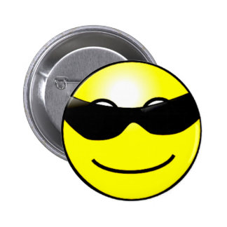 Cool Sunglasses Yellow Smiley Face Pin
