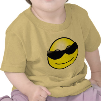 Cool Sunglasses Yellow Smiley Face Shirts