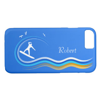 Cool Surf's Up Surfer Surfing Riding a Wave Slim Case-Mate iPhone Case