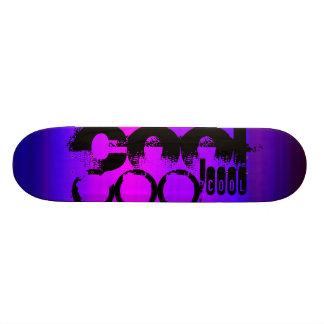 Cool; Vibrant Violet Blue and Magenta 18.1 Cm Old School Skateboard Deck