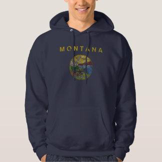 Cool Vintage Grunge State Flag of Montana Hoodie