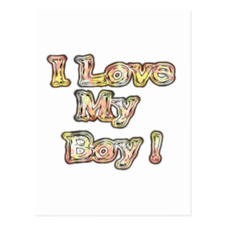 Cool Vintage Hakuna Matata Gifts I Love my Boy.png Postcard