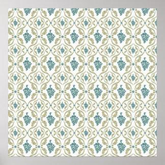 cool vintage pattern poster