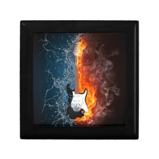 Cool Water and Fire Guitar Design Gift Box