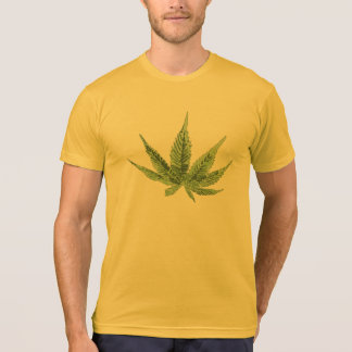 Cool weed design on men t-shirt