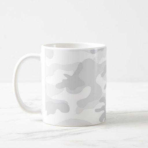 Cool White Camo, Camouflage Mugs