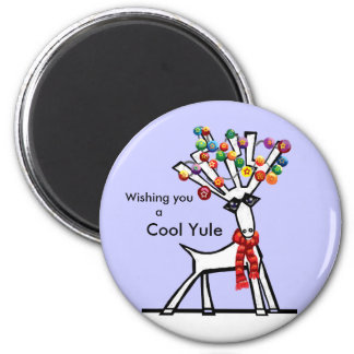 Cool Yule 6 Cm Round Magnet