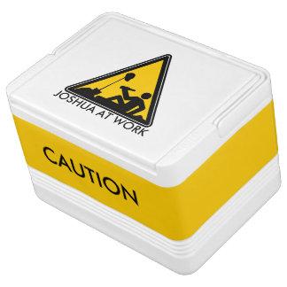 Cooler - Caution Men At Work Chilly Bin