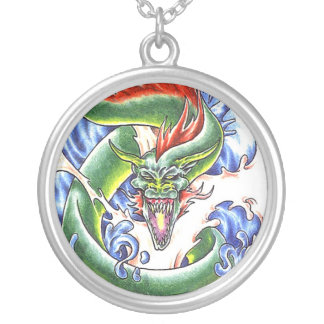 CoolGreen Water Dragon tattoo necklace
