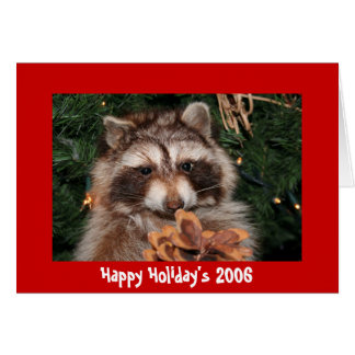 Coon Holiday Greeting, Happy Holiday's 2006 Greeting Card