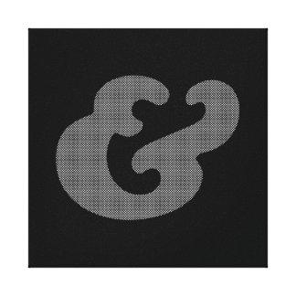 Cooper Bold Italic White Dots Canvas Print