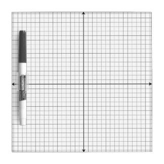 Coordinate Grid Small White Board Dry-Erase Board