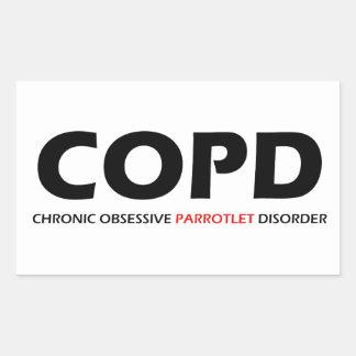 COPD - Chronic Obsessive Parrotlet Disorder Rectangular Sticker