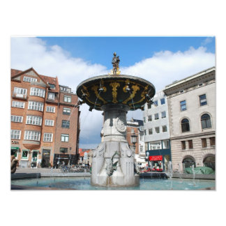 Copenhagen Denmark, Caritas Well Fountain Photo Print