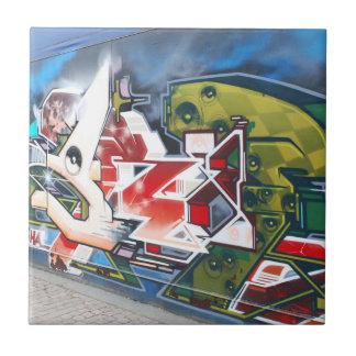 Copenhagen Street Graffiti Art Small Square Tile