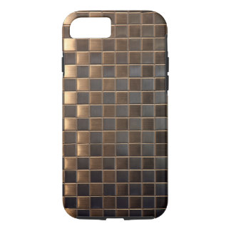 Copper Aluminium-Effect Tile iPhone 7 Case