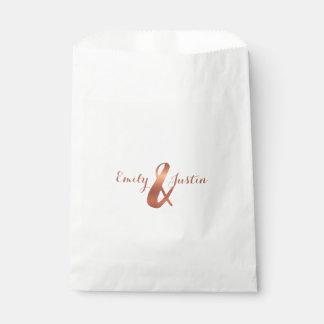 Copper ampersand design favour bags