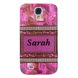 Copper & Pink Gold Glass Mosaic Galaxy S4 Case