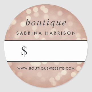 Copper Rose Gold Bokeh | Boutique Price Sticker