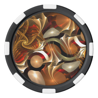 Copper Sci-Fi Abstract Art Poker Chips
