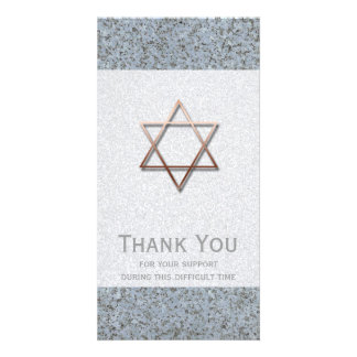 Copper Star of David Stone 1 Sympathy Thank You - Picture Card