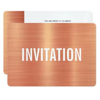 Copper Style   Party Invitation