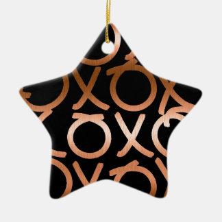 Copper XOXO Christmas Ornament