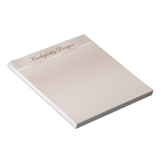 Coppery Peach Lined Personalized Notepads