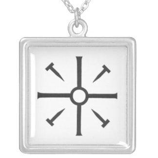 Coptic Cross Square Pendant Necklace