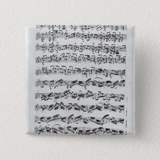 Copy of 'Partita in D Minor for Violin' 15 Cm Square Badge