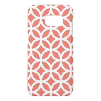Coral Galaxy S7 Cases Geometric Pattern