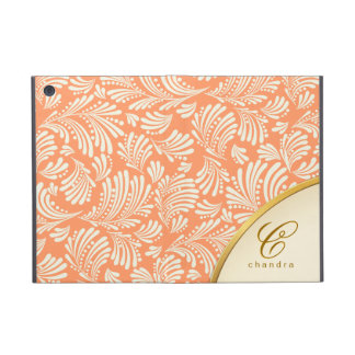 Coral Gold Monogram iPad Mini Folio iPad Mini Case