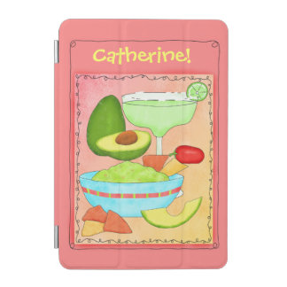 Coral Margarita Guacamole with Your Name iPad Mini Cover