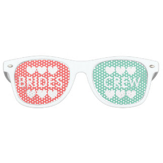 Coral mint brides crew bachelorette party shades