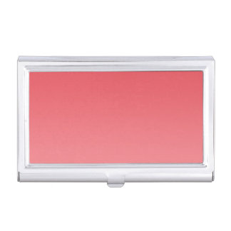 Coral Ombre Business Card Holder