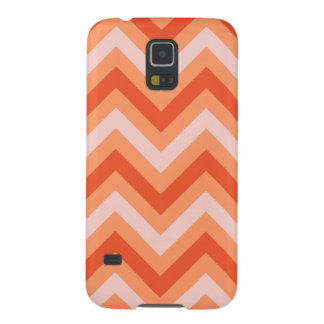Coral on Coral Chevrons Galaxy S5 Cover