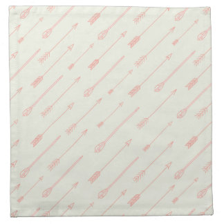 Coral Outlined Arrows Pattern Napkin