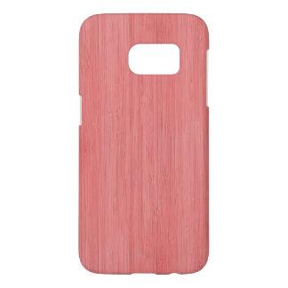 Coral Pink Bamboo Wood Grain Look