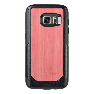 Coral Pink Bamboo Wood Grain Look OtterBox Samsung Galaxy S7 Case