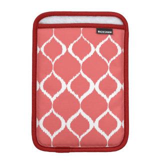 Coral Pink Geometric Ikat Tribal Print Pattern iPad Mini Sleeve