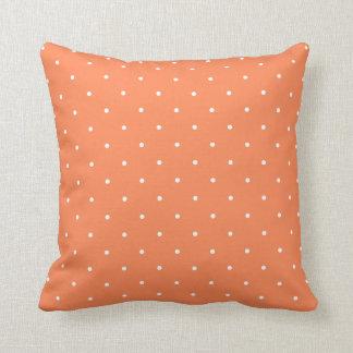 Coral Polka Dot Throw Pillow Cushions