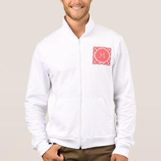 Coral Quatrefoil Pattern, Your Monogram Jacket