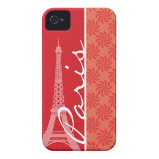 Coral & Red Swirl; Paris Case-Mate iPhone 4 Cases