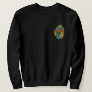 Coral Reef Fish Embroidered Sweatshirt