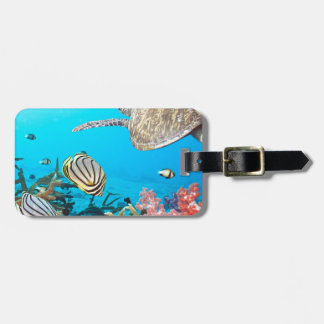 Coral Reef Turtle Naturescape Luggage Tag