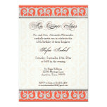 Coral & Silver, Diamonds & Lace, Mis Quince Anos Personalised Invitations