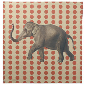 Coral Spice Moods Dots with Elephant Napkin